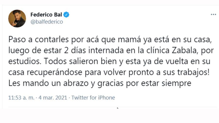 Fede Bal tuit