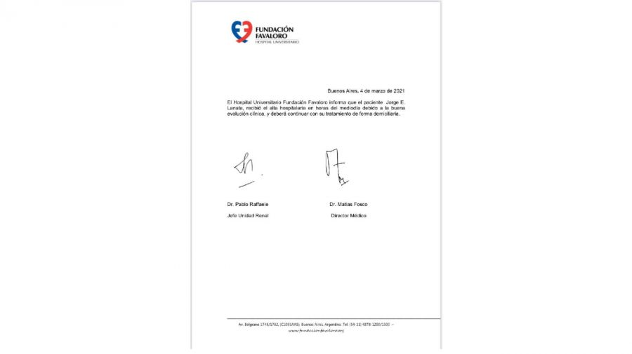 jorge lanata parte médico 0304