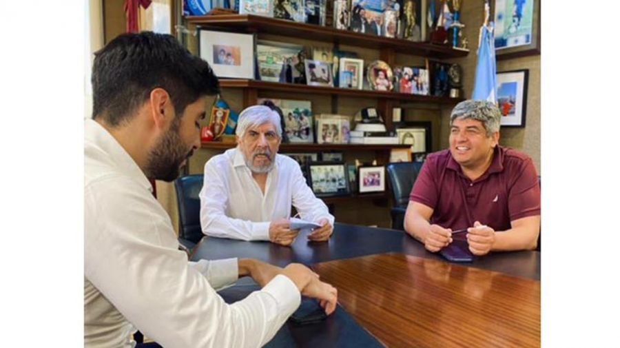Facundo, Hugo y Pablo Moyano