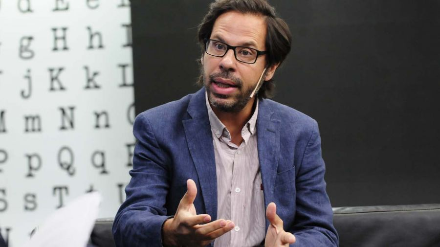 Axel Rivas, en la entrevista con Jorge Fontevecchia.