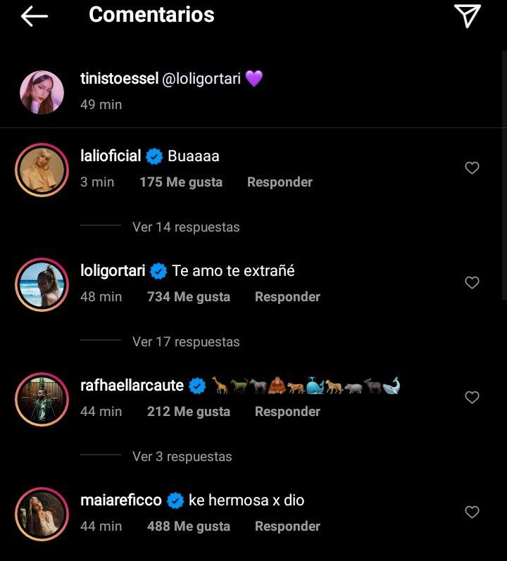 La inesperada reacción de Lali Espósito ante las fotos de Tini Stoessel