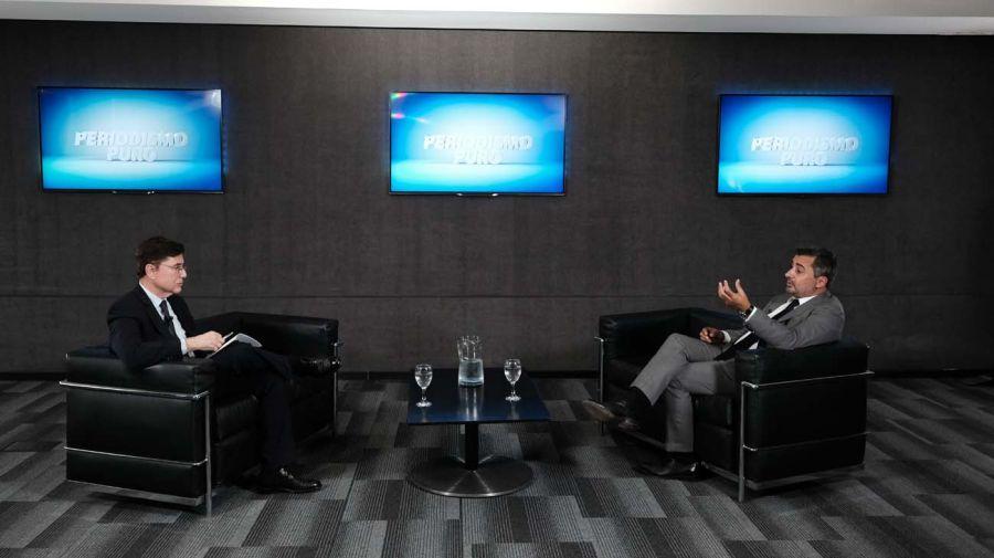 Diego Molea, en la entrevista con Jorge Fontevecchia.