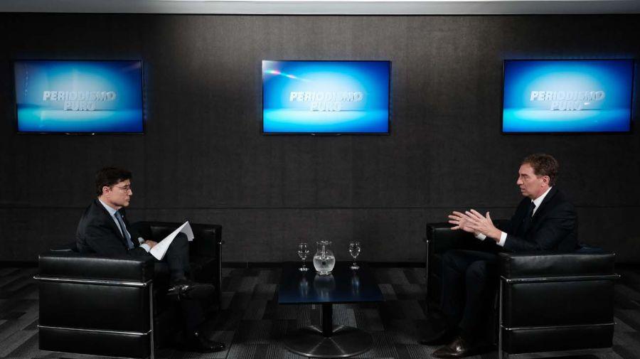 Diego Santilli, en la entrevista con Jorge Fontevecchia.