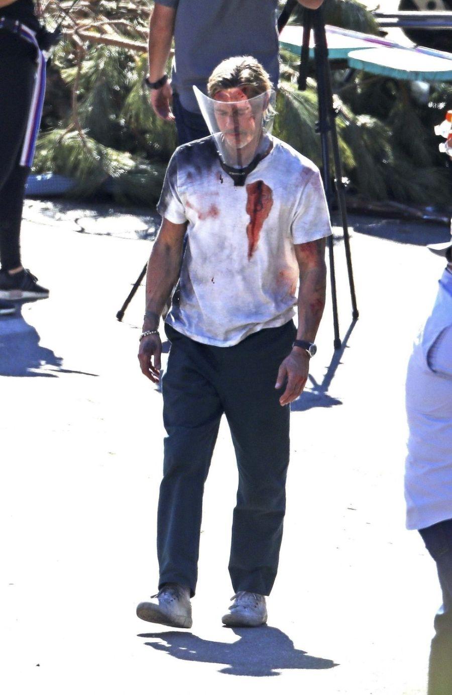 Ensangrentado y herido: las fotos de Brad Pitt que preocuparon a sus seguidores