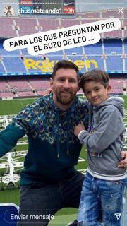 Lionel Messi fue a votar a Barcelona con un buzo de más de 100 mil pesos