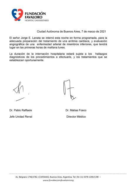 Preocupa la salud de Jorge Lanata: fue internado por tiempo indefinido