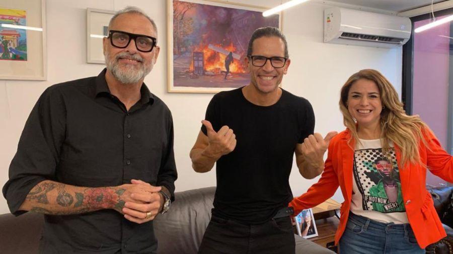 Jorge Rial, Diego Ramos y Marina Calabro
