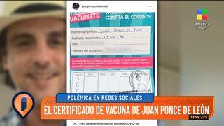 Juan Ponce de León se vacunó contra el Coronavirus a los 45 años, lo posteó y luego lo borró
