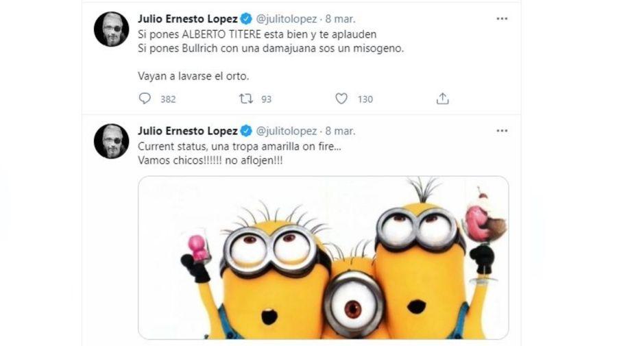 Julio Ernesto Lopez tuit
