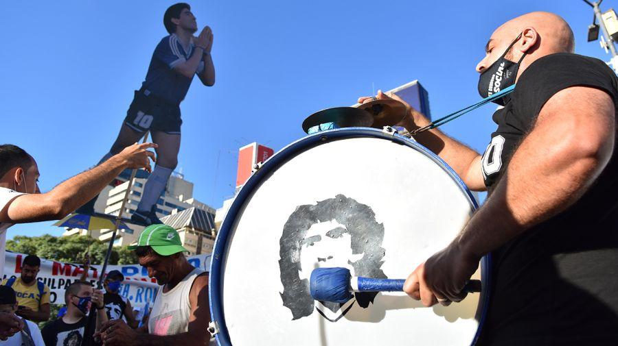 Marcha y reclamo por Justicia en la causa que investiga la muerte de Maradona.