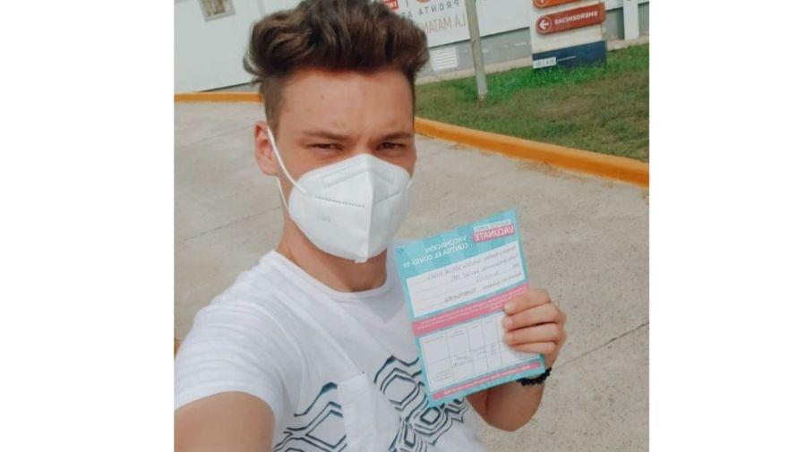 Gonzalo Vazquez vacunado