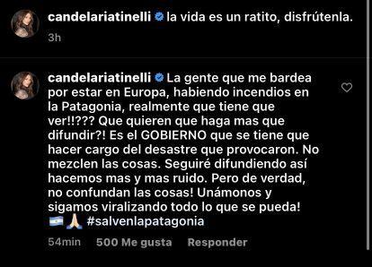 La furia de Cande Tinelli en medio de sus vacaciones en Madrid