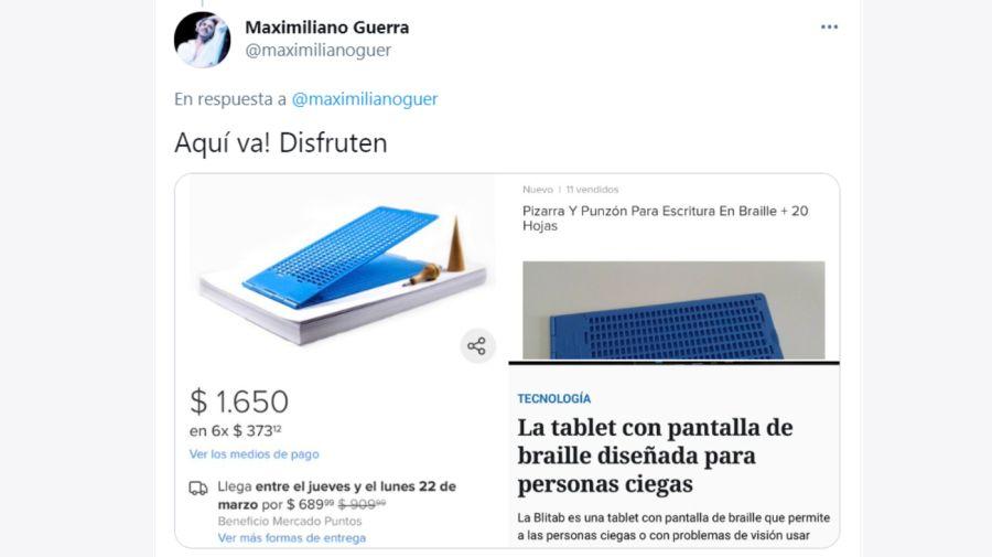 Maximiliano Guerra tuits