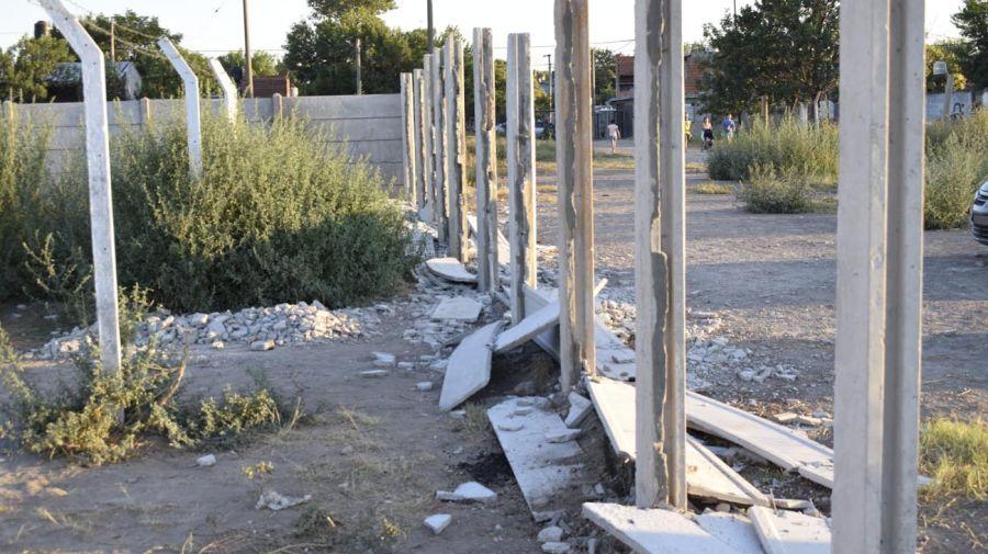 vandalismo en un club de Rosario 20210312