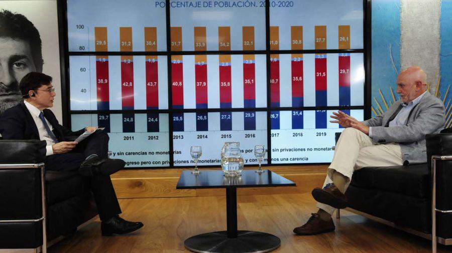 Agustín Salvia, en la entrevista con Jorge Fontevecchia.