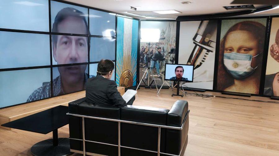 Luis Naidenoff, en la entrevista con Jorge Fontevecchia.