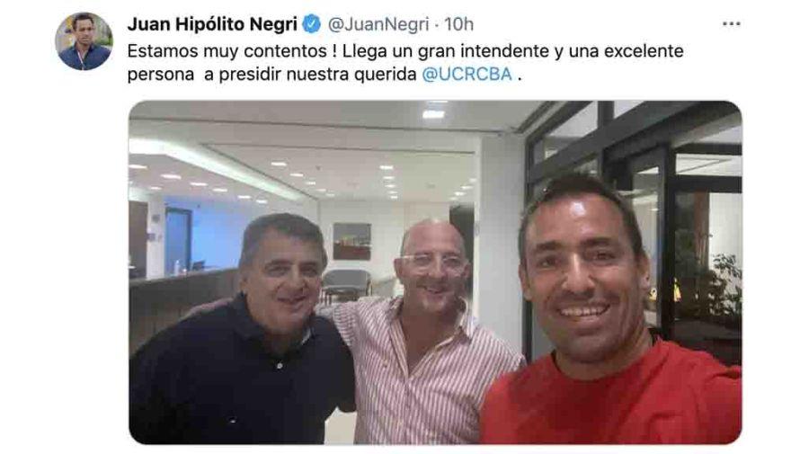 Juan Negri celebró el triunfo de Marcos Carasso en la UCR de Córdoba