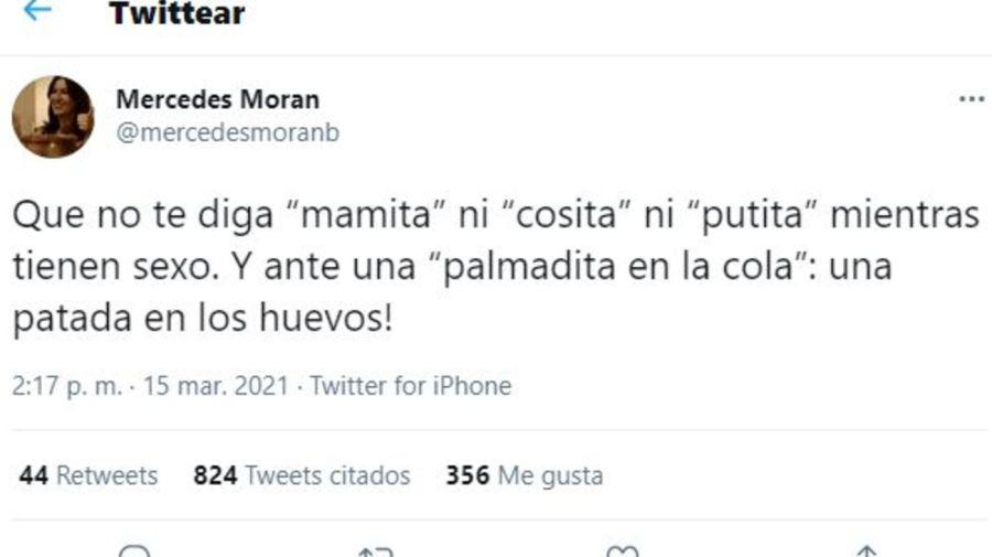 Mercedes Moran-Tuit polemico