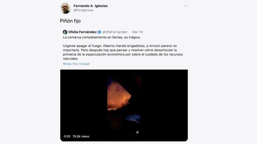 Tuit Ofelia Fernández