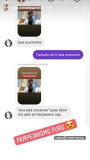 Pampita reveló el nombre de su hija sin darse cuenta
