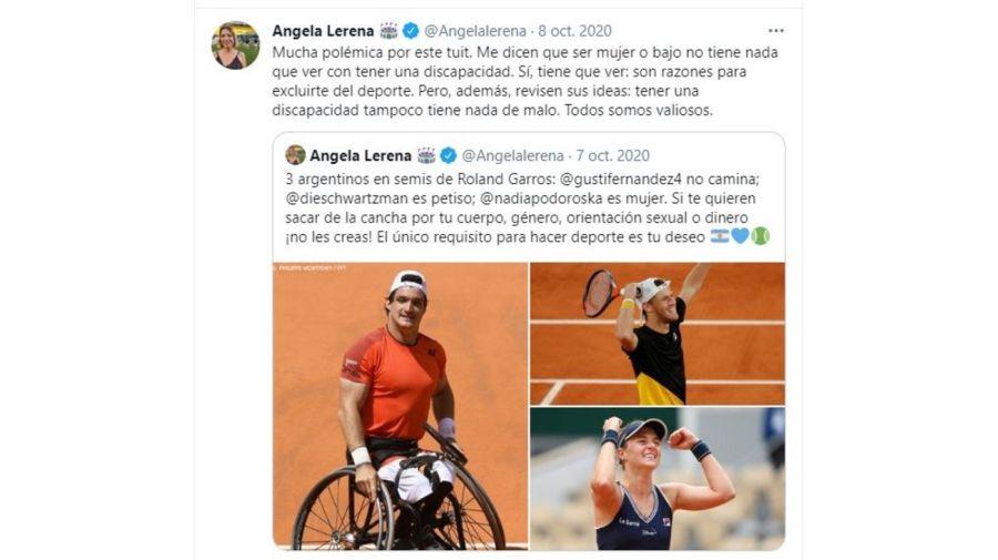 Angela Lerena Polemica