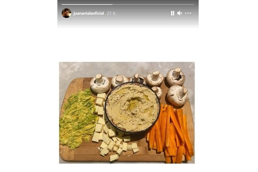 Así es la propuesta vegetariana de Juana Viale para una picada