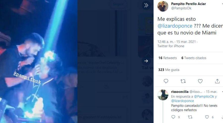 Pampita Online: Lizardo Ponce confirmó que tuvo en romance en Miami