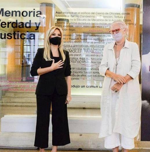 Fabiola Yáñez visitó la ESMA por una importante causa