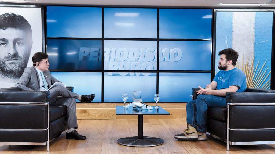 Gino Tubaro, en la entrevista con Jorge Fontevecchia.