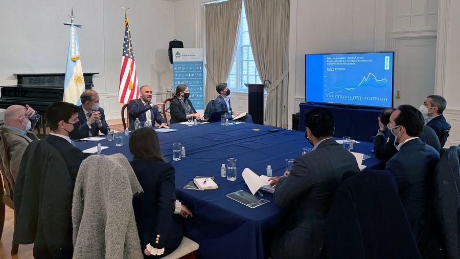 Martín Guzmán en Nueva York. La reunión fue calificada como productiva.