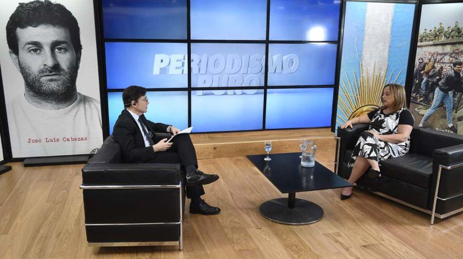Cecilia Moreau, en la entrevista con Jorge Fontevecchia.