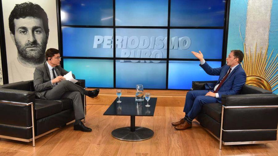 Fernando Gray, en la entrevista con Jorge Fontevecchia.