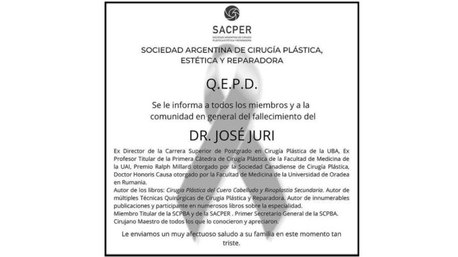 Muerte Dr Jose Juri