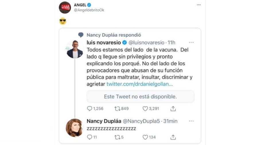 Nancy Duplaa contra Luis Novaresio
