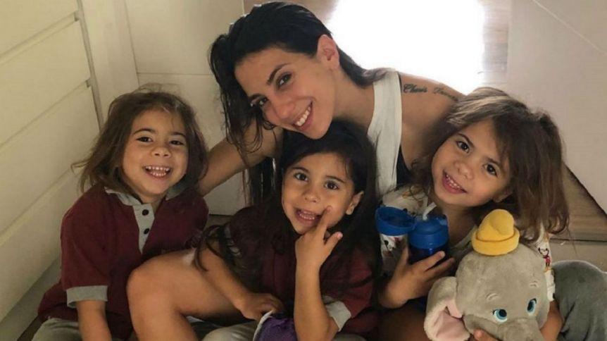 Cinthia Fernández mostró por qué su hija Bella tiene abdominales