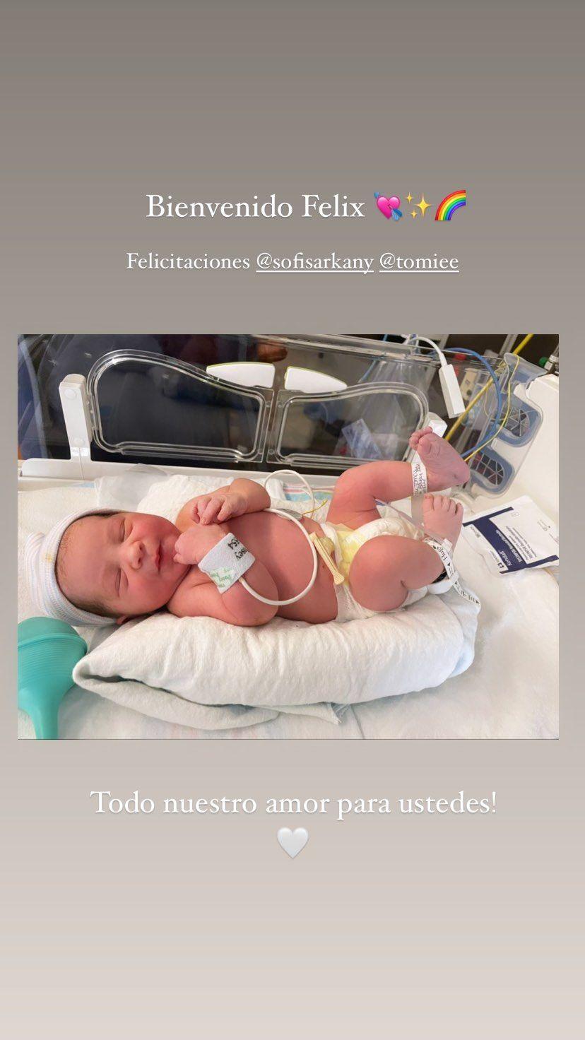 Sofía Sarkany fue mamá por primera vez