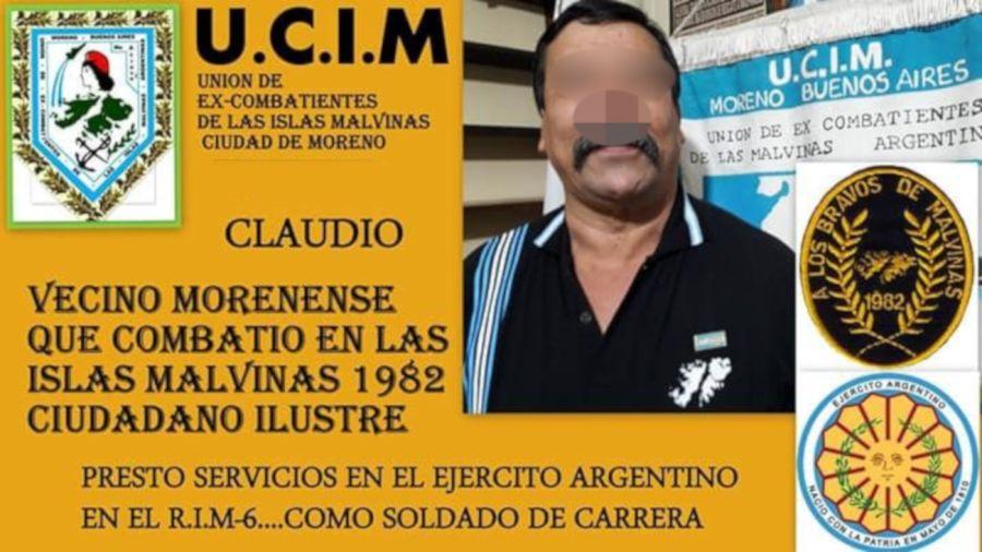 2023 03 25 Combatiente de Malvinas Moreno Detenido