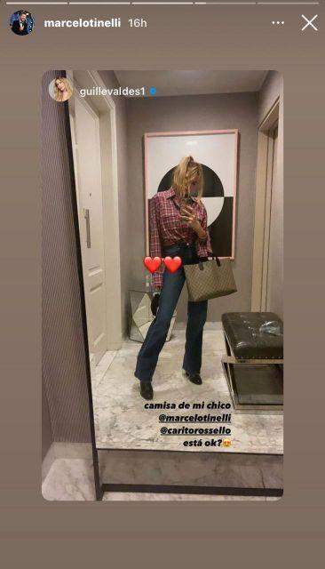 Guillermina Valdés contó qué prendas de vestir de Marcelo Tinelli usa