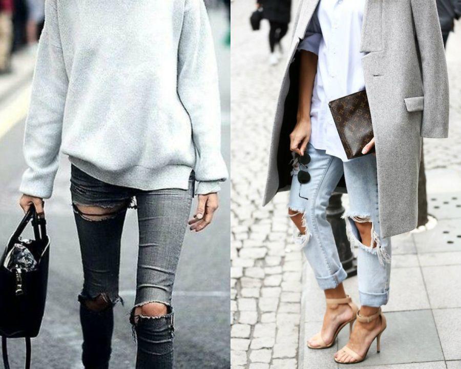 jeans gastados y rotos