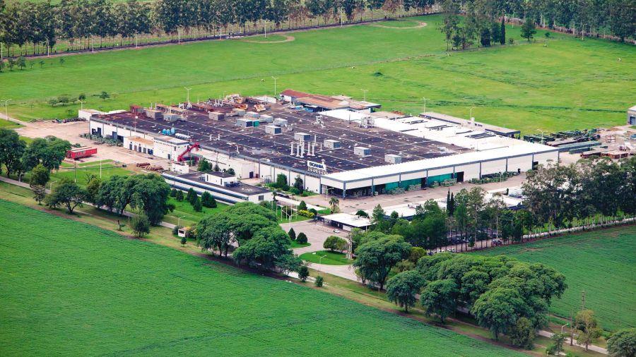 Vista aérea de la planta tucumana de Colombres