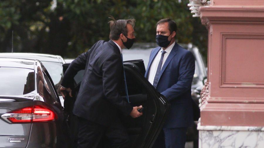 Martín Soria llega a la Casa Rosada para jurar como ministro