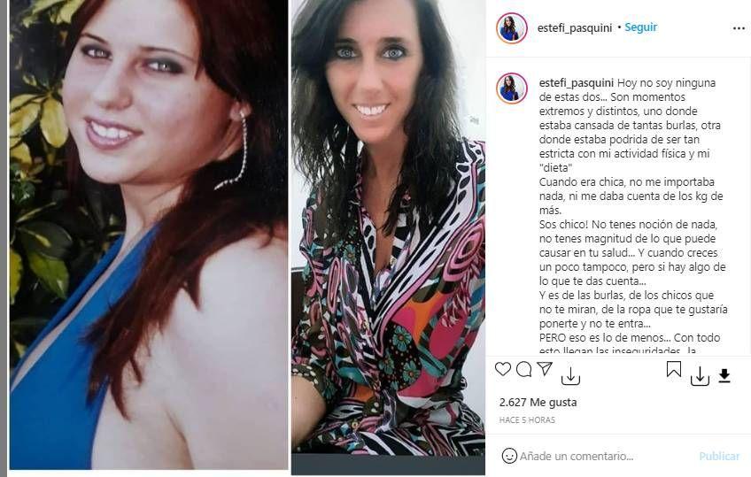 Así fue la transformación corporal de Estefi Pasquini, la esposa de Alberto Cormillot