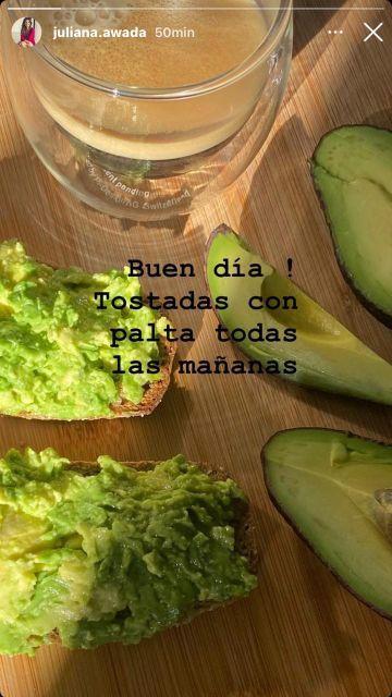 Juliana Awada y el secreto alimenticio para todas sus mañanas