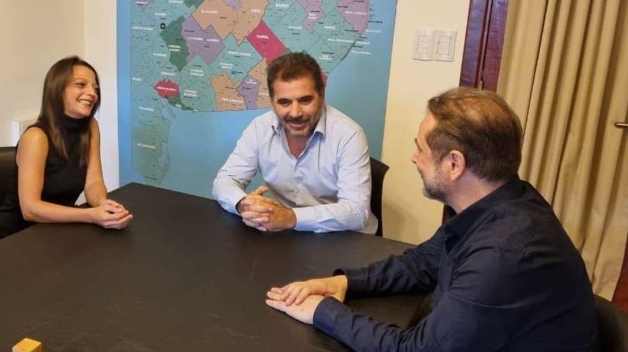 Maria Paz Etchecopar, Cristian Ritondo y Ricardo Benedetti