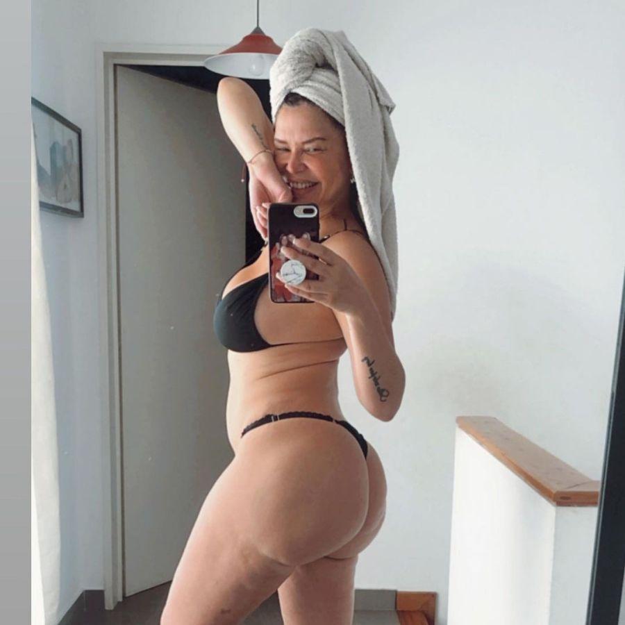 Orgullosa de su celulitis: Nazarena Vélez mostró su cuerpo sin Photoshop