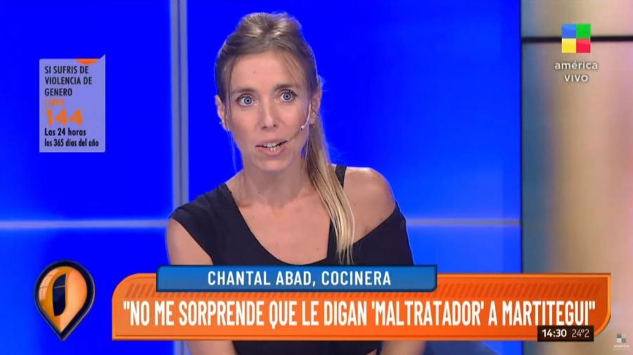Chantal Abad contra German Martitegui