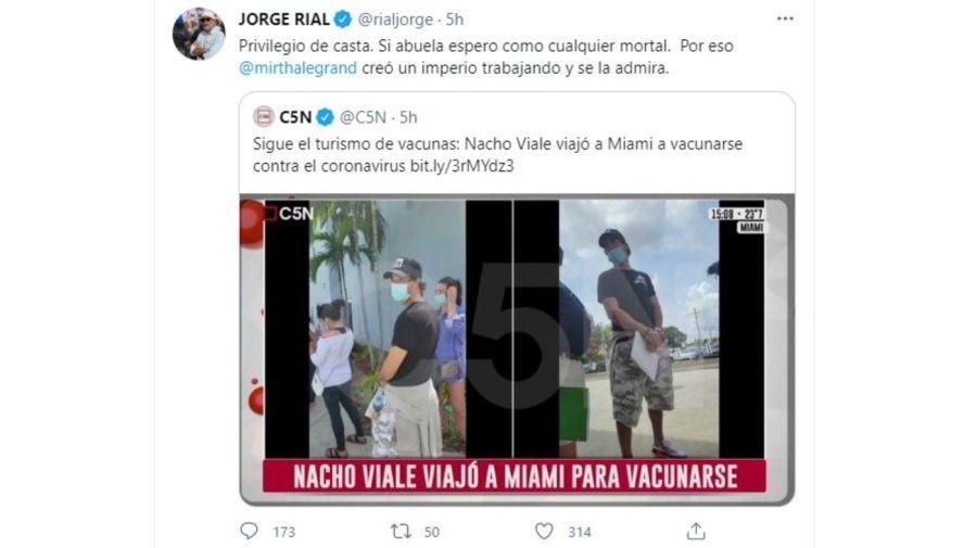 Jorge Rial contra Nacho Viale