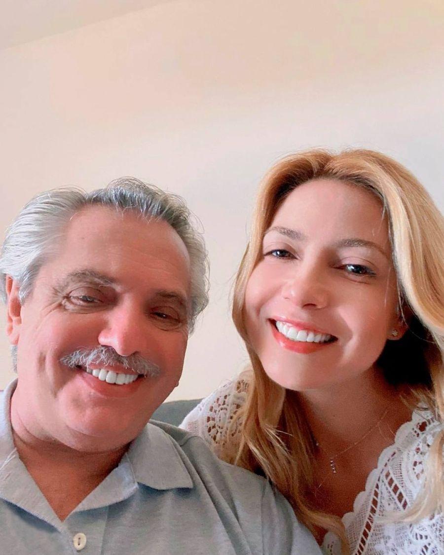 Con un detalle viral: Fabiola Yañez homenajeó a Alberto Fernández en el día de su cumpleaños