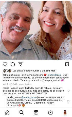 Con un detalle viral: Fabiola Yáñez homenajeó a Alberto Fernández en el día de su cumpleaños