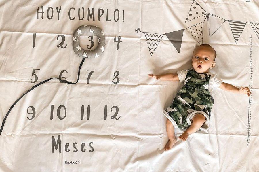 Micaela Vázquez celebró los tres primeros meses de su hijo Baltazar con tiernas fotos
